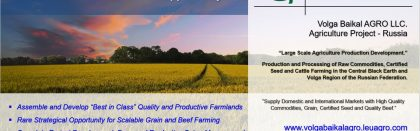 AGRICULTURE RUSSIA – The Opportunity !!!