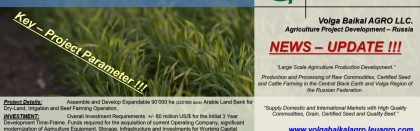 Leu AGRO News Update on its Subsidiary Volga Baikal AGRO LLC. Russia !!!
